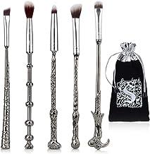 JASSINS 5 Pcs Potter Makeup Brush Set, Wizard Magic Wand Eye Shadow Brushes Palette Eyeliner Blending Pencil Lip Brush Makeup Tools