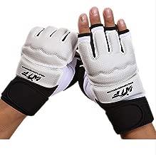 Wonzone Half Finger Taekwondo Training Boxing Gloves, Taekwondo/Muay Thai Training/Punching Bag Gym Half Mitts Sparring Gloves