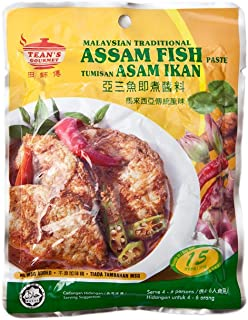 TEAN'S GOURMET - MALAYSIAN TRADITIONAL - ASAM FISH PASTE / TUMISAN - ASAM IKAN / NO MSG ADDED - Serve 4-6 persons / 7 OZ - 200 G /Product of Malaysia