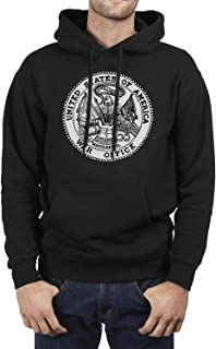 Mens Pullover Hoodie Sweater U.S. Army War College Classic Fleece Sweatshirt with Pocket