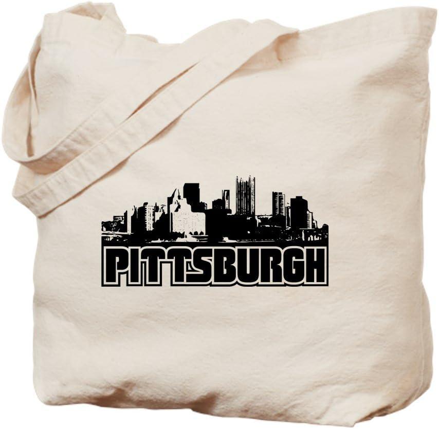 CafePress Pittsburgh Skyline Tote Bag Natural Canvas Tote Bag, Reusable Shopping Bag