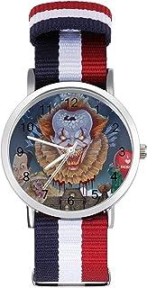 It Pennywise - Reloj de ocio para adultos, moderno, hermoso y personalizado, de aleación, casual, deportivo, para hombres ...