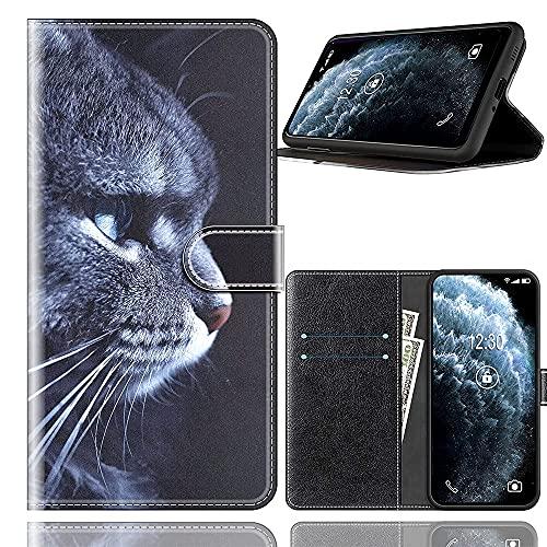 Sinyunron Handy Schutzhülle Kompatibel mit DOOGEE BL12000 Hülle Handy Tasche Hülle Handyhülle Lederhülle mit Kartenfächer,Ständer,Magnetverschluss,Hülle04C