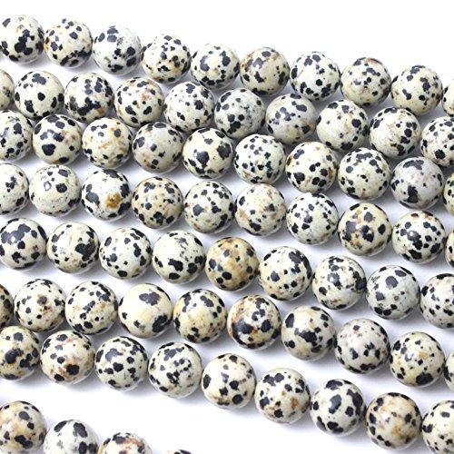 Natural Dalmatian Jasper Round Gemstone Loose Beads for Bracelet (4mm)