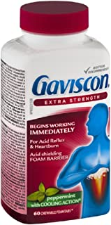 Gaviscon Extra Strength Peppermint 60 Tablets