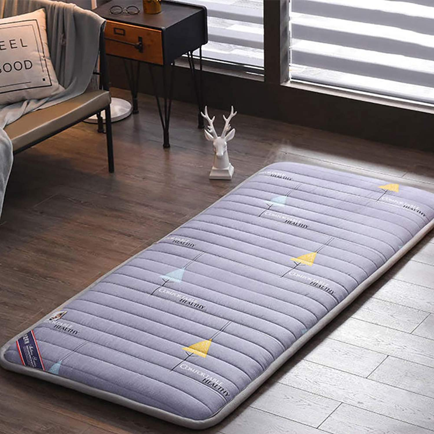 Thick Student Dormitory Mattress,Ultra Soft Non-Slip Traditional Japanese Floor Futon Mattress Quilted Fitted Mattress Nap mat-G 100x200cm(39x79inch)