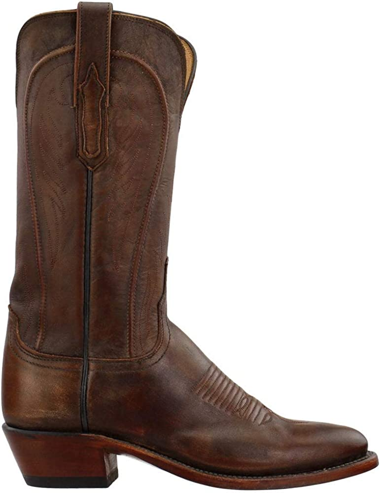 Lucchese Womens Willa Snip Toe Boots Mid Calf Low Heel 1-2