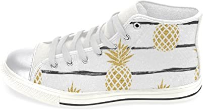 InterestPrint Women's High Top Classic Casual Canvas Fashion Shoes Trainers Sneakers