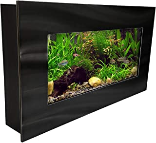 Aussie Aquarium AA-MINIVIEW-BBLACK 2.0 Wall Mounted Aquarium Brushed Black