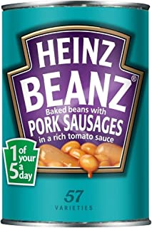 Heinz Baked Beanz with Pork Sausages in Tomato Sauce (415g) - Pack of 6