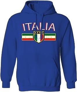 Swift Pigeon Apparel Bandera de Italia Envejecido Rayas–Cartel Italiano Italia Sudadera con Capucha para Hombre