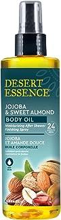 Desert Essence Jojoba & Sweet Almond Body Oil - 8.28 Fl Ounce - Provides 24 Hour Moisture - Vitamin E - Vitamin Enriched S...