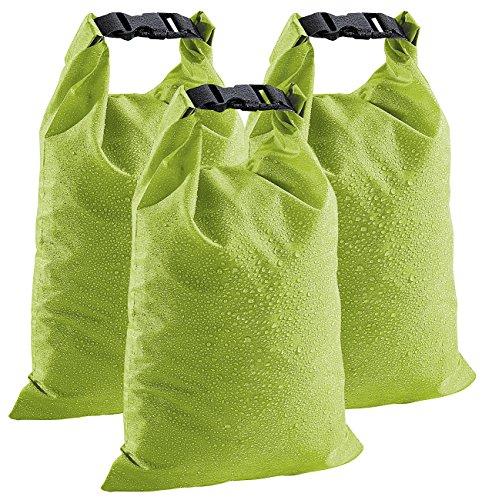 Xcase Beutel wasserdicht: wasserdichte Nylon-Packtaschen DryBags 3er-Set: 1, 4 & 8 Liter (Wasserdichter Packbeutel)