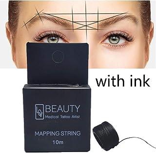 Línea de mapeo de cejas Mapeo Cadena de pre-tinta para Microblading Maquillaje de cejas Teñido Liners Rosca Posicionamiento semipermanente