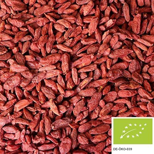 1kg Bio Goji Beeren getrocknet, ungezuckerte Bio Gojibeeren als Snack oder als Zugabe für ein leckeres Müsli
