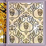 Gothic Decor Window Film Insulation Window Films Non-Adhesive Office Stain Glass Film Static Cling Privacy 23.6 x 78.7 in