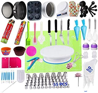 Beauenty Cake Decorating Kit, 223 PCS Baking Supplies With 10.5 Inch Cake Turntable, Icing Tips, Cake Spatulas, Pastry Too...