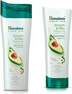 Himalaya Smooth and Silky Moisturising Shampoo, 400 Ml & Smooth & Silky Conditioner, 400 Ml This Combo Moisturizes Rough a...