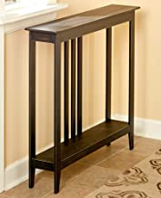 Slim Entry Table - Space-Saving Accent Table with Distressed Finish - Black