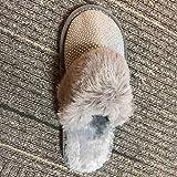 Zapatillas de Mujer para Interior, Moda para Mujer, Felpa Peluda, Interior para Mujer, pompón cálido y Casual, Calzado Femenino-Gray_6