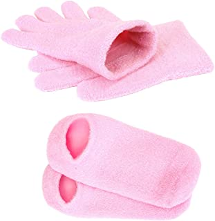 CCbeauty Gel Moisturizing Gloves and Socks Gel Linning with Essential Oils for Repair Dry Rough Cracked Eczema Hands/Feet Spa Beauty Gift