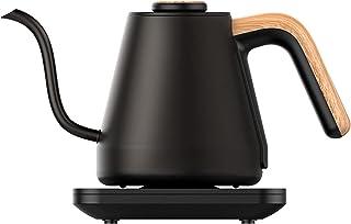 Cafetière, bouilloire en acier inoxydable à température variable avec col de cygne, presse à café filtre à main avec pisto...