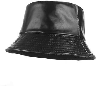 [ラボーグ] PUレザー バケットハット キャップ 漁師帽 つば広 ハット 日よけ帽子 折りたたみ帽子 日除け UVカット 紫外線対策 レディース おしゃれ 春 夏