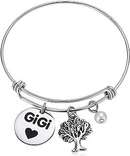 Hazado Gigi Gifts for Grandma, Gigi Bracelet with Family Tree for Great Grandma Women Her Birthday Gifts