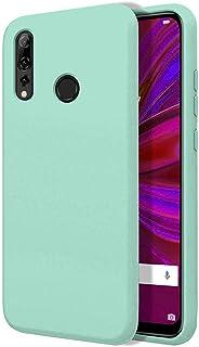 """TBOC Hoesje voor Huawei P Smart+ 2019 [6.21""""]- Stijf Bedekking [Turkoois] Premium Vloeibare Siliconen [Zachte Aanraking] V..."""