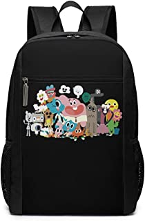 Funny Fashion Unisex The Amazing World Of Gumball Printing rn Knapsacks Black