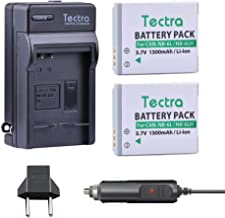 Tectra 2X Replacement Canon NB-6L NB-6LH Battery + Wall/Car Charger Kit for Canon PowerShot SX530 HS, SX710 HS, SX700 HS, SX610 HS, SX600 HS, SX540 HS, SX510 HS, SX500 is, SX280 HS, SX270 HS, D30, S90