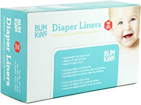 Bumkins Flushable Biodegradable Cloth Diaper Liner, Neutral, 100 Count, (Pack of 1)