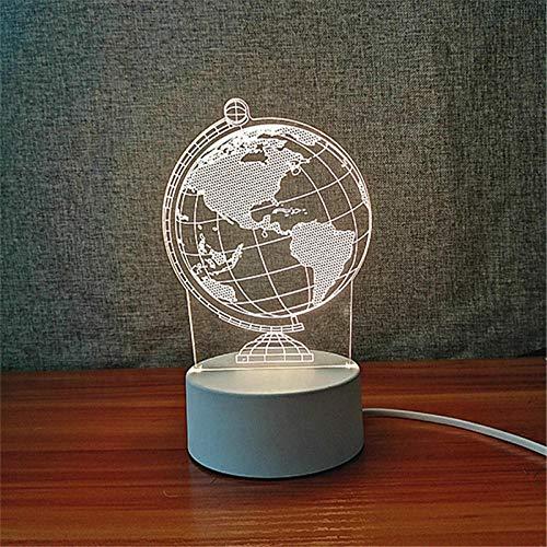 Driekleurig 3D-nachtlampje acrylbord l warm licht verjaardagscadeau voor jongens en meisjes