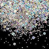 100 g UV Resin Bubble Beads 0.4 mm to 3 mm Droplet Bubble Beads Fillers for DIY Shaker Resin Molds Resin Pendant Jewelry Making (Transparent Color)