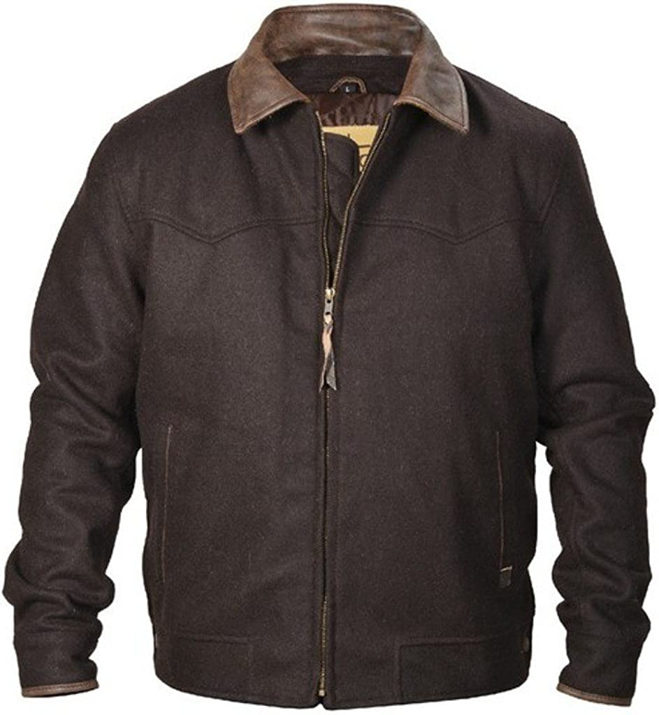 STS Ranchwear Western Jacket Mens Wooly Pockets 4XL Brown STS8443