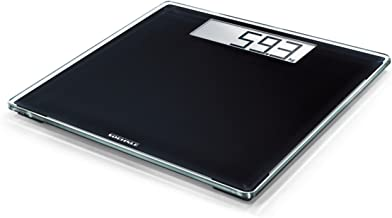 Soehnle Style Sense Comfort 400 Black Bathroom Scale, Digital Scale with Large Weighing Surface, Weighs up to 180 kg, Electronic Scale with Large Display (Colour: Black)