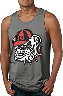VANMASS Men Georgia Bulldogs Logo Sleeveless Tank Tops T-Shirt