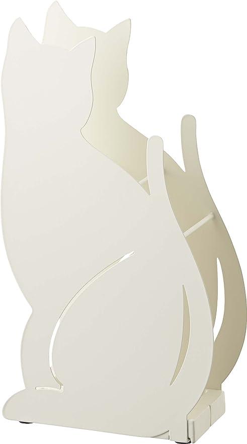 動力学収容する有毒山崎実業 傘立て ネコ ホワイト 2358
