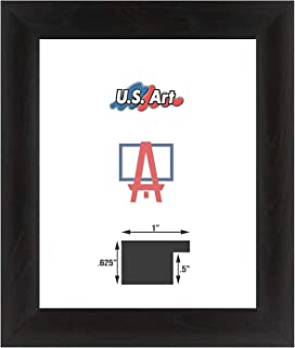 US Art Frames 12 by 36-Inch Wall Decor Picture Poster Frame, Smooth Wrapped Finish, 1 Inch Wide Flat, Black, Wood Composite MDF