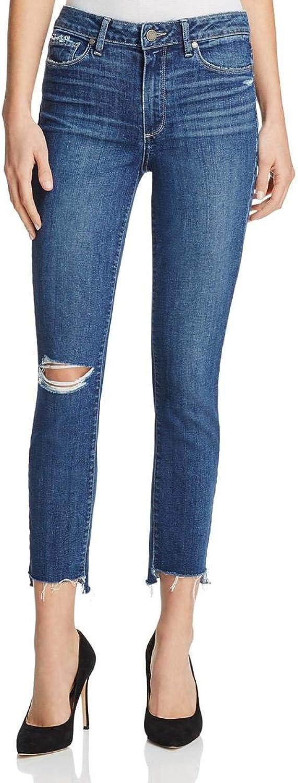 Paige Womens Hoxton Denim Medium Wash Ankle Jeans bluee 29