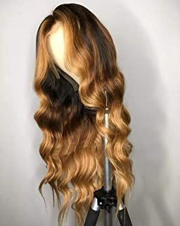Ombre Color 27 Deep Part 13x6 Lace Front Wigs Human Hair Brazilian Body Wave Lace Front Human Hair Wigs Pre Plucked With B...