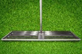 Varomorus Stainless Steel Lawn Level Tool with Handle for Grass Golf Field (42')