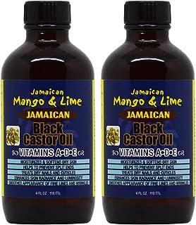 Jamaican Mango & Lime Jamaican Black Castor Oil Vitamins A, D, E 4oz