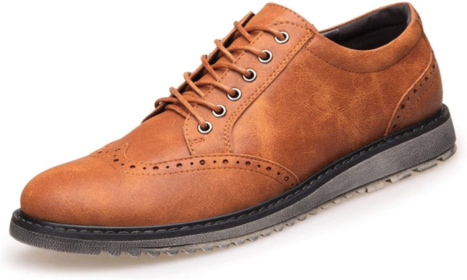 Oxford Dress shoes for Men Formal Leather shoes -Casual Classic Mens shoes-Men's Locke carved shoes