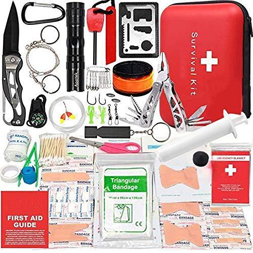 救急セット アウトドア 登山 防災 アドベンチャーのすべてのニーズを満たす40種類 168点山岳救助ツール 旅行 自宅 携帯 収納便利 救急箱
