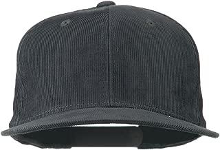 Corduroy Vintage Snapback Cap - Charcoal