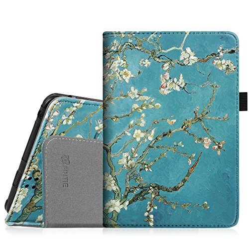 Fintie Folio Case for Kindle Fire HD 7' (2012 Old Model) - Slim Fit Leather Cover with Auto Sleep/Wake Feature (will only fit Amazon Kindle Fire HD 7, Previous Generation - 2nd), Blossom