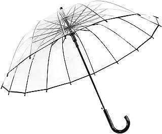 Stick Clear Umbrella Windproof Lightweight Rain Umbrella Large Transparent Waterproof Umbrella Automatic Open