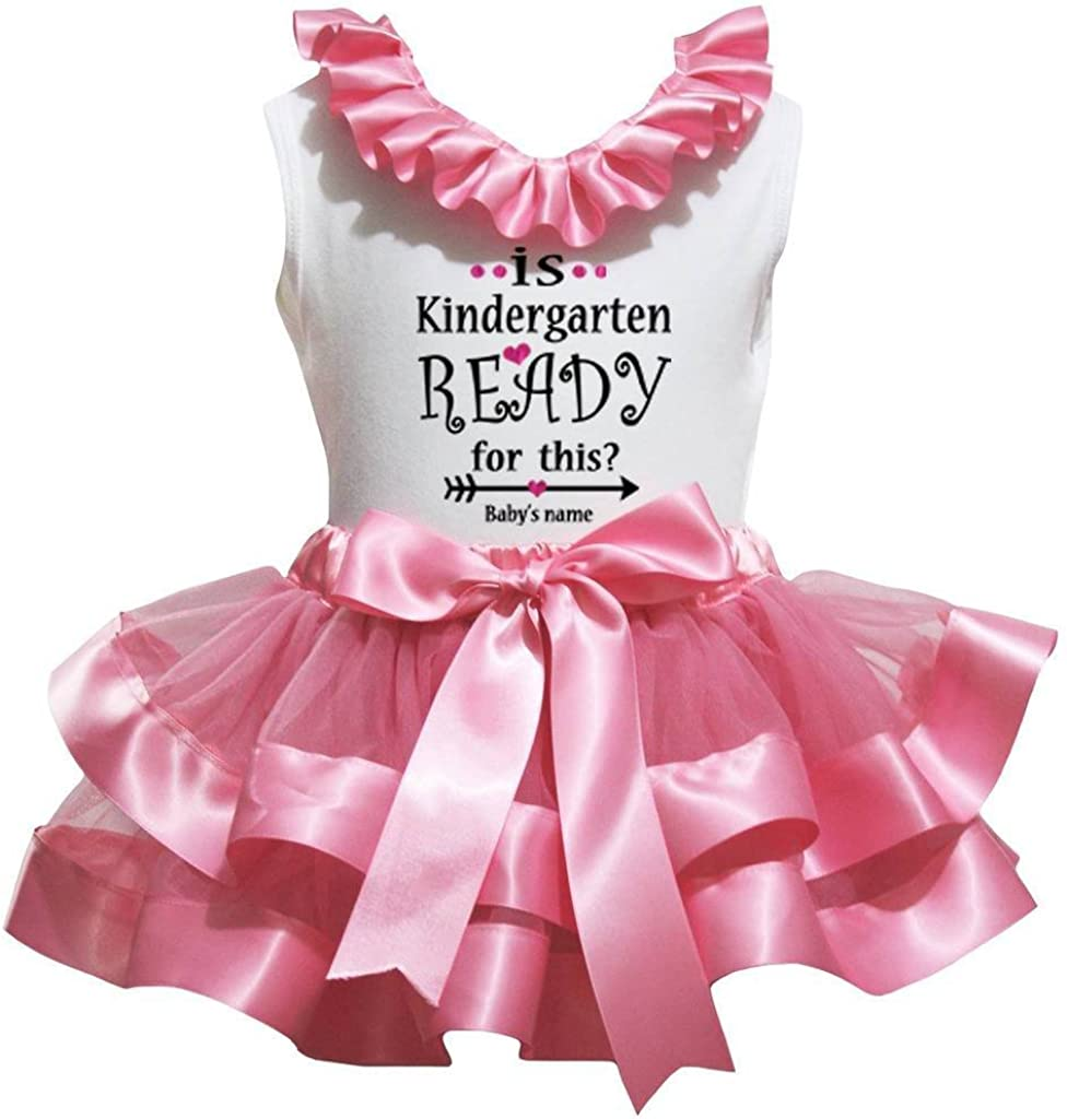 Petitebella is Kindergarten Ready for This White Shirt Dusty Pink Petal Skirt Nb-8y