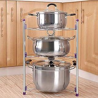 DUDDP Étagère cuisine Pan Pot Organisateur rack 2,3,5 Étage multi-fonctionnel de cuisine Support de rangement de stockage ...
